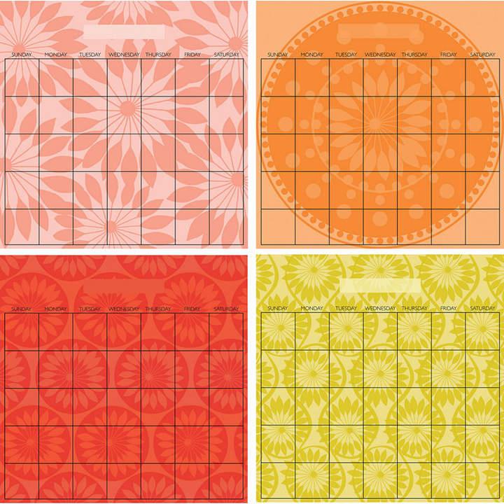 Brewster Wall Wall Pops Peel & Stick Carnival 4 Piece Calendar Set with Marker