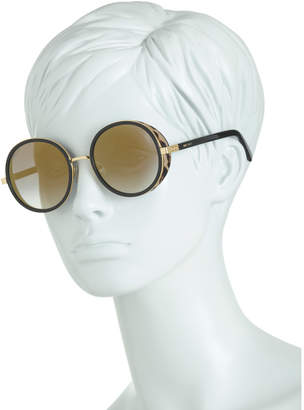 Made In Italy 54mm Round Designer Sunglasses