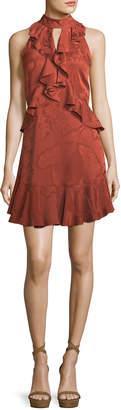 Cinq à Sept Maxime Satin Burnout Sleeveless Mini Dress