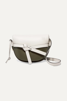 Loewe Gate Small Two-tone Leather Shoulder Bag - White