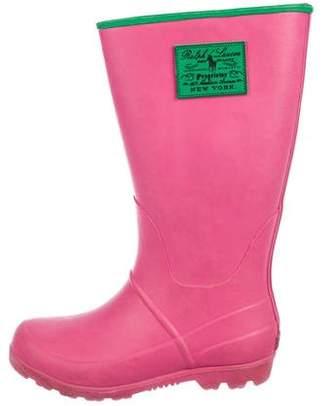 Ralph Lauren Girls' Rubber Rain Boots