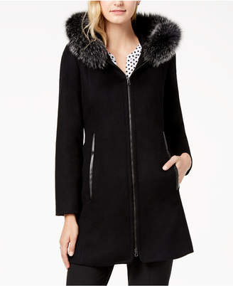 Forecaster Fox-Fur-Trimmed Hooded Walker Coat