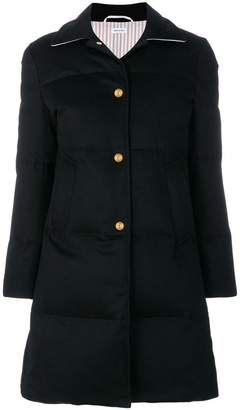 Thom Browne Down-filled Jacket-weight Cashmere Overcoat