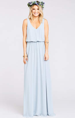Show Me Your Mumu Kendall Maxi Dress ~ Steel Blue Chiffon