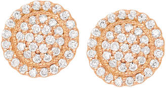 Jamie Wolf 18k Diamond Pave Round Stud Earrings
