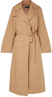 Nili Lotan Topher Distressed Cotton-gabardine Trench Coat - Beige