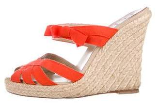 Christian Louboutin Espadrille Slide Wedges