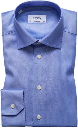 Eton Contemporary Fit Solid Dress Shirt