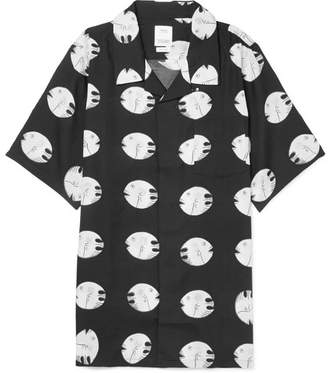 Visvim Camp-Collar Printed Silk And Cotton-Blend Shirt