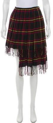 Hache Plaid Pleated Skirt