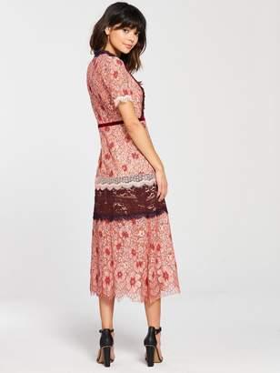 Foxiedox Sadie Floral Midi Dress - Pink Multi