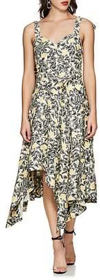 Proenza Schouler Women's Floral Crepe Belted Midi-Dress