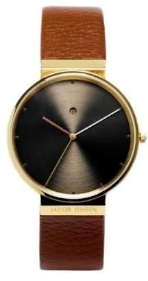 6df6297609d2 Jacob Jensen Men s Analogue Quartz Watch with Leather Strap 844