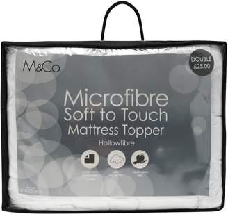 M&Co Microfibre mattress topper