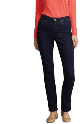 Lands' End Blue Petite Dark Indigo Mid Rise Straight Leg Jeans