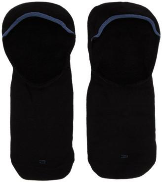 Ermenegildo Zegna Three-Pack Black EZ Sockless Socks