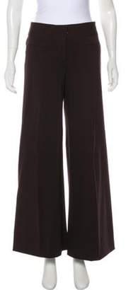 Diane von Furstenberg Mid-Rise Flared Pants Brown Mid-Rise Flared Pants