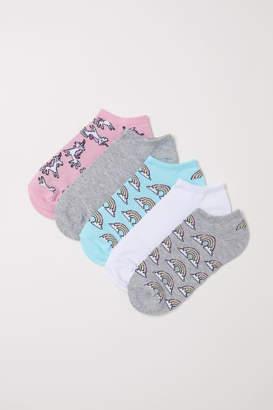 H&M 5-pack Ankle Socks - Gray