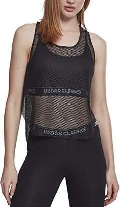 Urban Classic Women's Ladies Mesh Sports Tank Top,(Size of Manufacturer: )