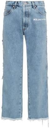 Natasha Zinko Mid rise straight leg frayed jeans