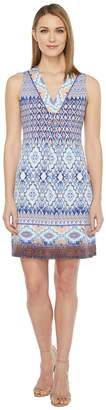 Hale Bob Permanent Vacation Microfiber Jersey Sleeveless Dress Women's Dress