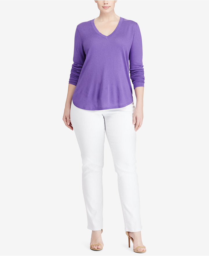 Lauren Ralph LaurenLauren Ralph Lauren Plus Size V-Neck Sweater