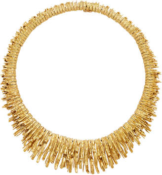 Chaumet Vintage by Mahnaz Collection 18K Yellow Gold Textured Rays Necklace