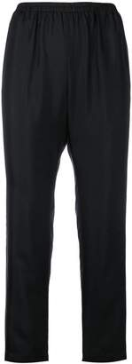 Gold Hawk contrast piping trousers