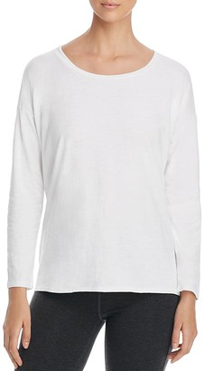 Eileen Fisher Long Sleeve Boat Neck Top $88 thestylecure.com