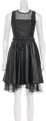 Jonathan Simkhai Perforated A-Line Dress