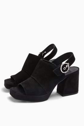 Topshop NOLAN Black Platform Shoes