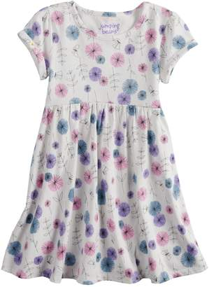 Toddler Girl Jumping Beans Roll Cuff Patterned Dress