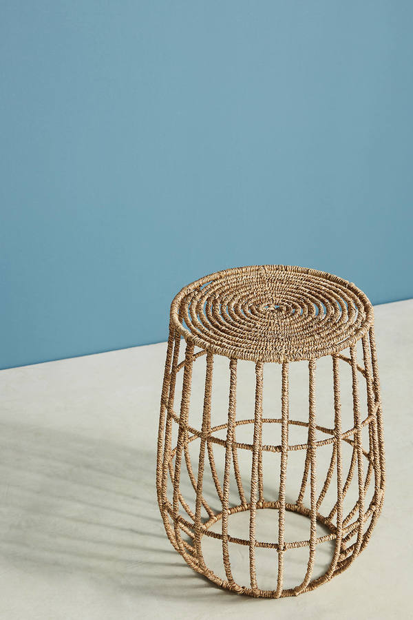 Anthropologie Anthropologie Jute Basket Side Table
