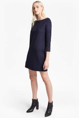 French Connenction Crystal Shot Embellished Tunic Dress