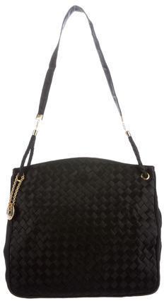 Bottega VenetaBottega Veneta Intrecciato Satin Shoulder Bag