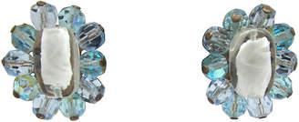 One Kings Lane Vintage Faceted Glass Bead Flower Earrings - Thanks for the Memories