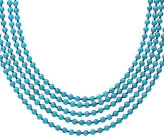 """Lagos Sterling Silver Caviar Icon Multi-Row Turquoise & Onyx Beaded Necklace, 20"""""""