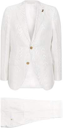 Pal Zileri Silk-Blend Zebra Print Suit