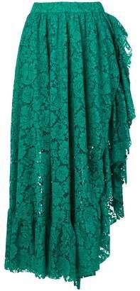 Philosophy di Lorenzo Serafini lace asymmetric ruffle skirt