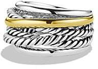 David Yurman Women's Crossover Narrow Ring with Gold