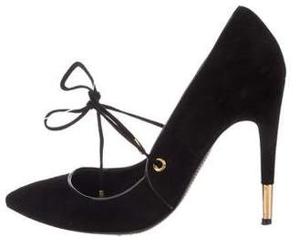 Tom Ford Pointed-Toe Suede Pumps