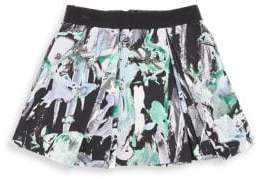 Milly Minis Little Girl's Floral-Print Zipper Skirt