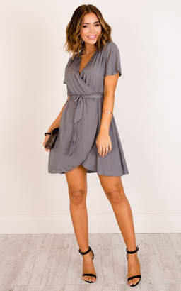 Showpo Love On Me dress in dark grey - 8 (S)