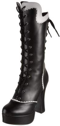 Pleaser USA Bordello by Women's Courtess-1025 Lace Up Boot