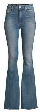 High Rise Flared Stretch Jeans