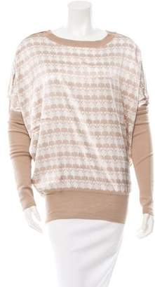 Thomas Wylde Cashmere Patterned Top w/ Tags
