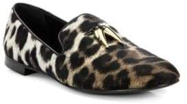 Giuseppe Zanotti Calf Hair Animal-Print Loafers