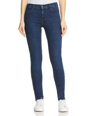 J Brand 620 Mid Rise Super Skinny Jeans in Braided Catonite
