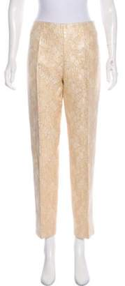 Prada Mid-Rise Straight-Leg Pants Gold Mid-Rise Straight-Leg Pants