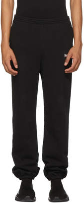 Balenciaga Black Campaign Logo Lounge Pants